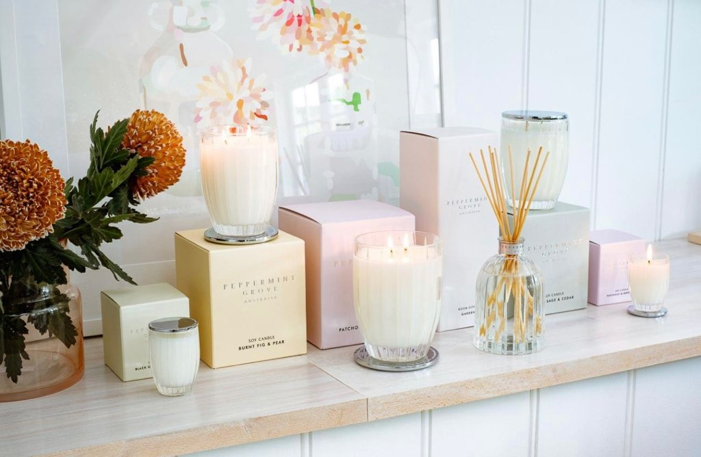 Order Peppermint Grove Candles online