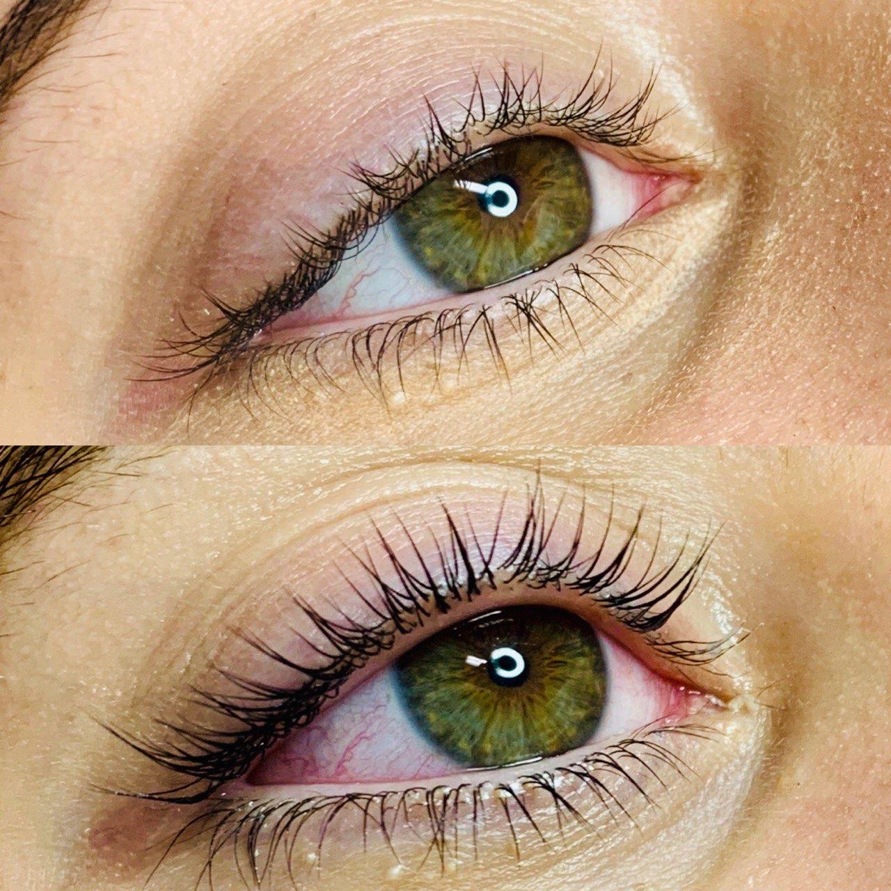 Before & After Eye Lash Lift Blacktown